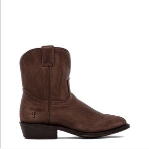 Frye Billy Short - Dark Brown Leather Western Boot